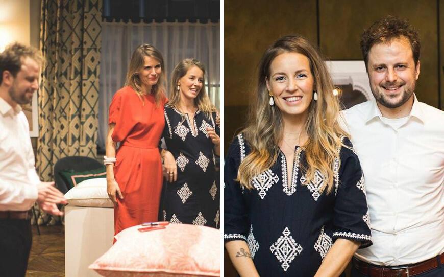 Links: Michiel van Heusden, Hanna verboom en Petra van RoonRechts: Oprichters Michiel en Petra