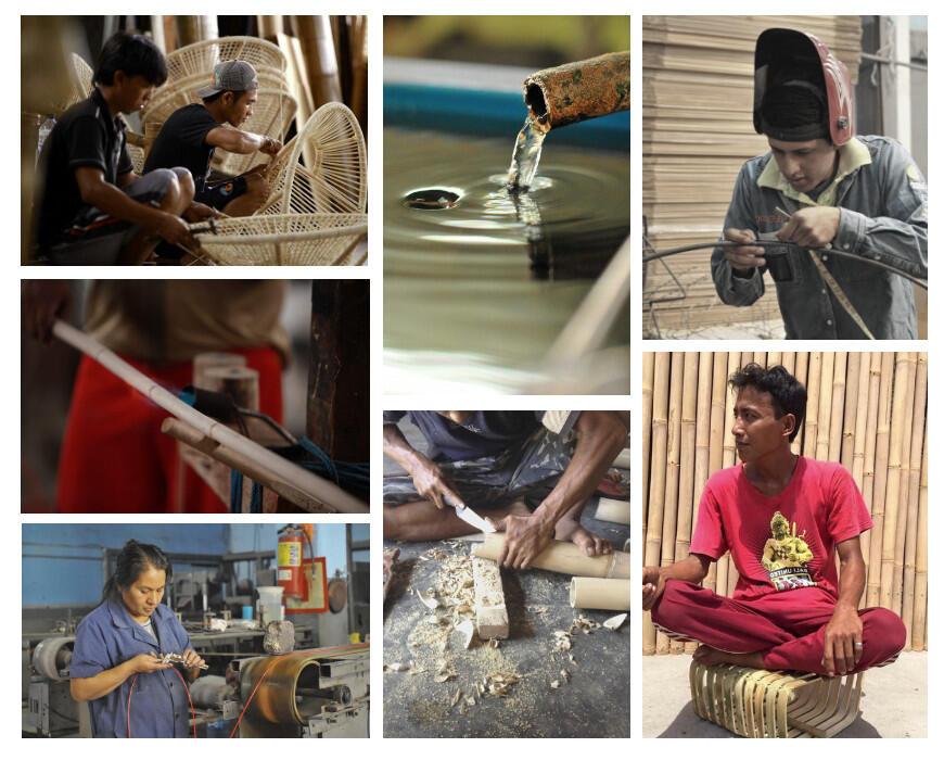 Achter de schermen: de ambachtslieden uit Bali aan het werk.