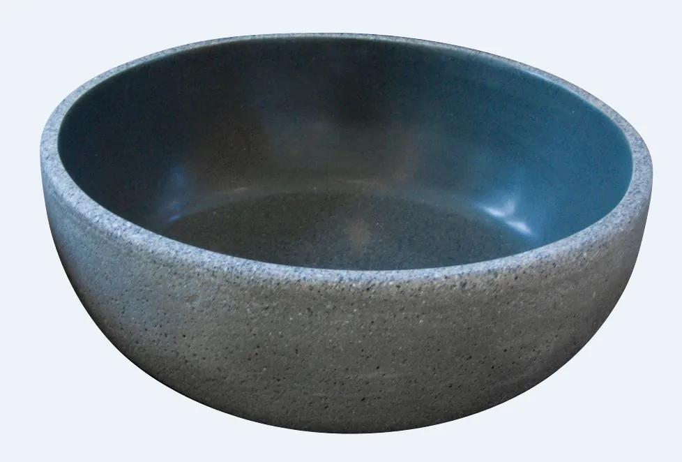 Best Design Aquastone Haichi opbouw waskom 42cm Lava