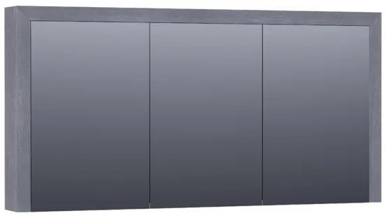 Saniclass spiegelkast 140x70x15cm 3 draaideuren Purple Oak Massief Eiken Doorlopende Lamel geborsteld 70513POG