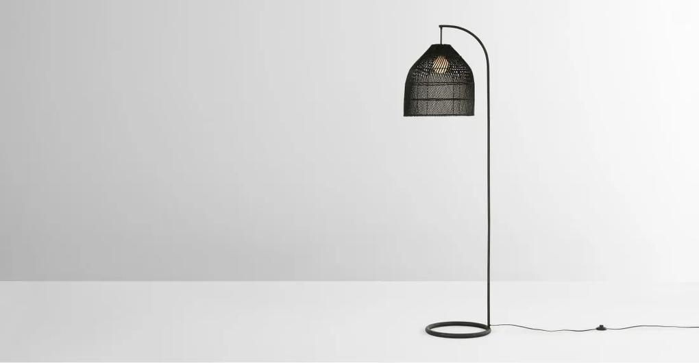 Java staande lamp, zwart