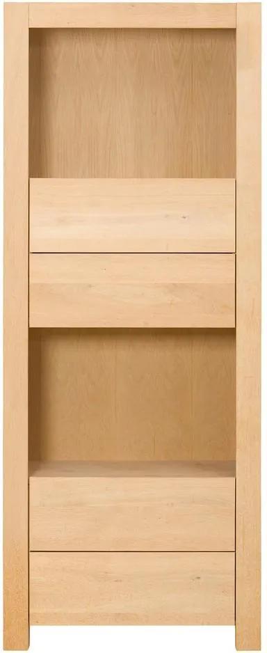 Goossens Boekenkast Module, 80 cm breed, 4 laden, 2 open vakken