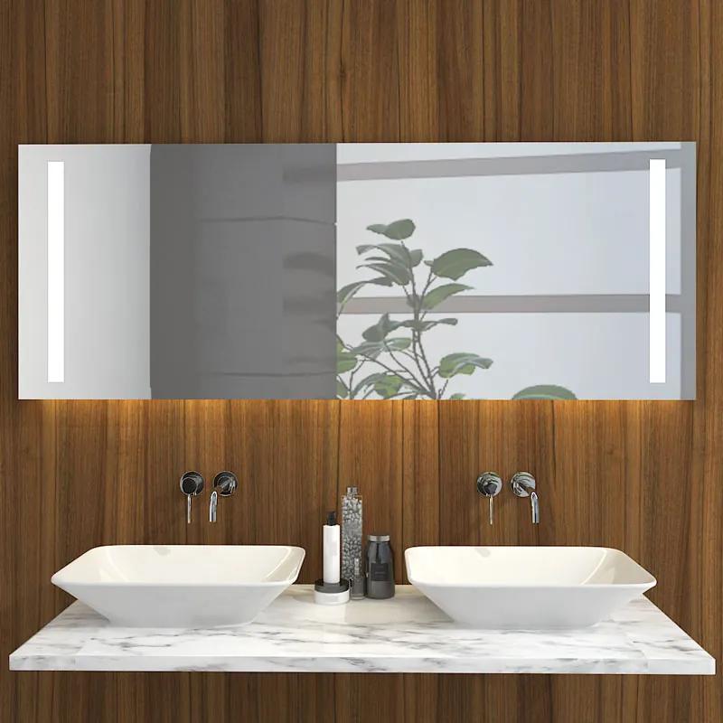 Badkamer Spiegel Met Verwarming En Verlichting.Badkamerspiegel Maxi 160x60cm Geintegreerde Zij Led