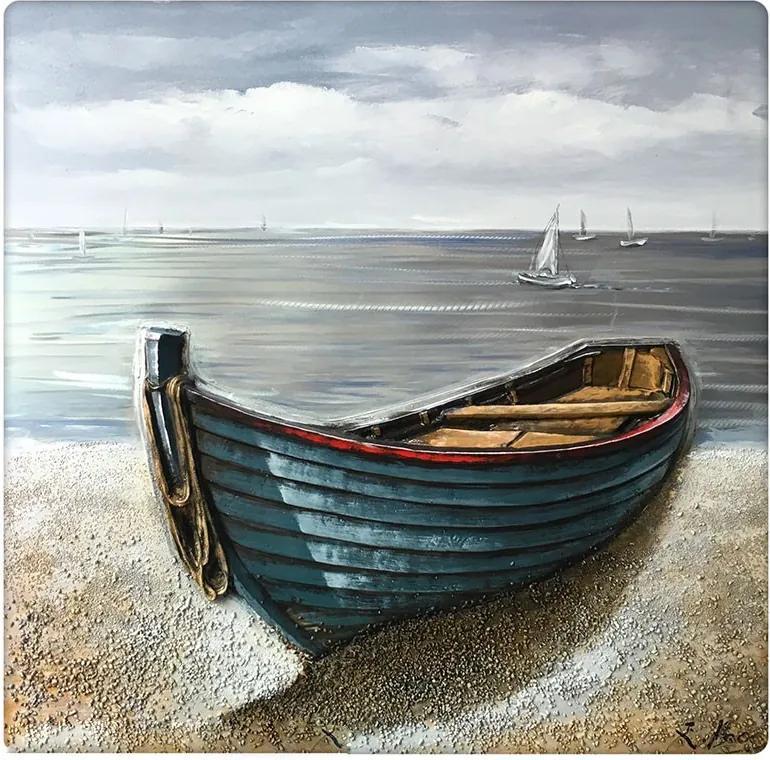 3D houten schilderij boot