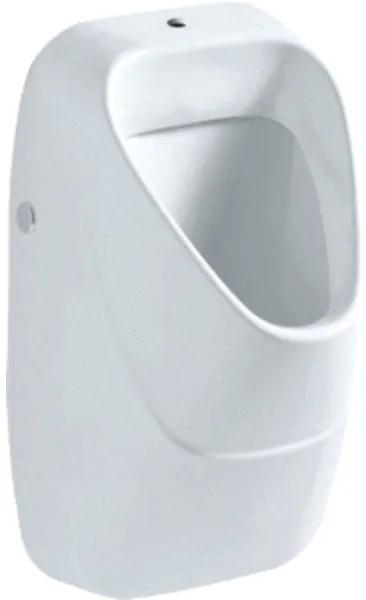 Geberit 300 urinoir met keramisch rooster met boveninlaat 34x34cm met vlieg m. KeraTect wit S8602205001G s8602205001g