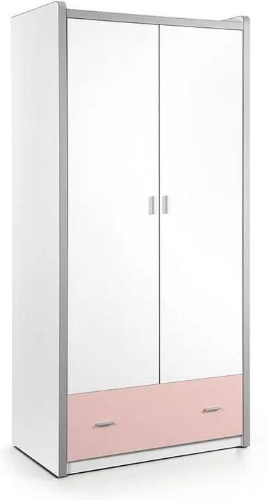 Vipack Bonny - Kledingkast 2 deurs Kleur: Roze