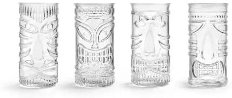 Tiki Mixed Gods longdrinkglas (Ø7,3 cm) (set van 4)