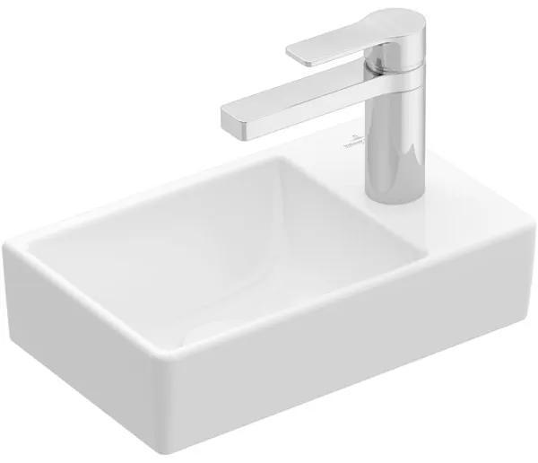 Villeroy & boch Avento fontein 1 kraangat rechts zonder overloop 36x22cm ceramic+ wit 43003lr1