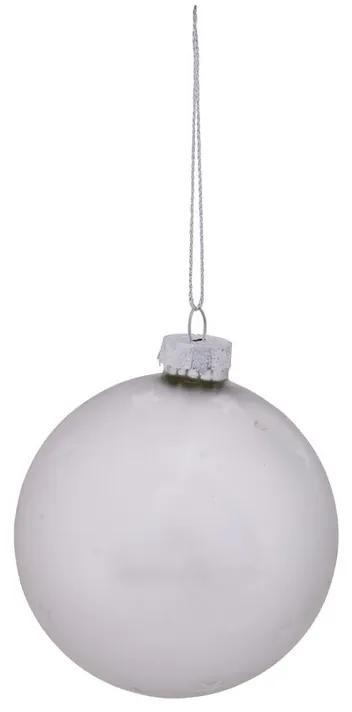 Kerstbal met subtiele sterretjes - zilver - 8 cm