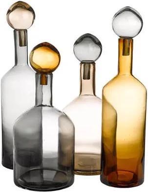 Bubbles & Bottles Chic Karaffen Set van 4