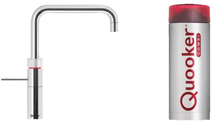Fusion Square kokend water keukenmengkraan - chroom - met Combi boiler