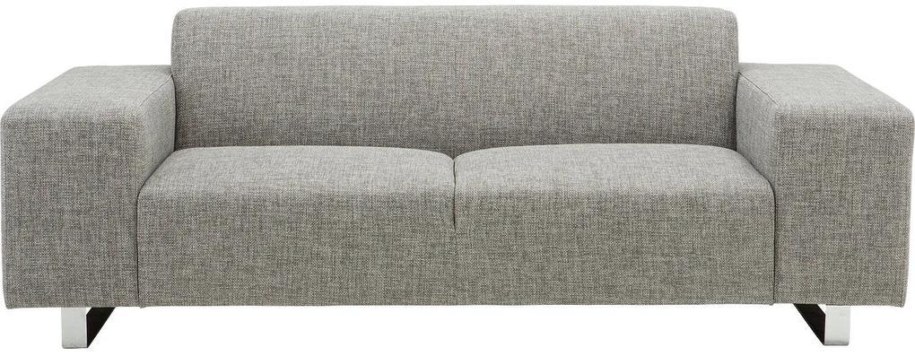 Goossens Excellent Bank Design@Home zwart, stof, 3-zits, modern design