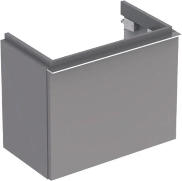 Geberit iCon wastafelonderbouwkast m. 1 lade 52x42x30.8cm m. greep platina-grijs 840054000