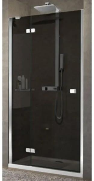 Novellini Brera draaideur voor nis G 129/131x200cm links matchroom/helder BRERAG130LS-1B