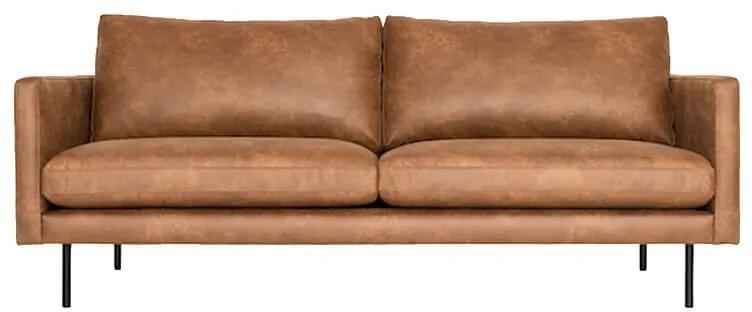 3-zits bank Daisy met doorgestikte armleuning | leer Colorado cognac 03 | 1,96 mtr breed