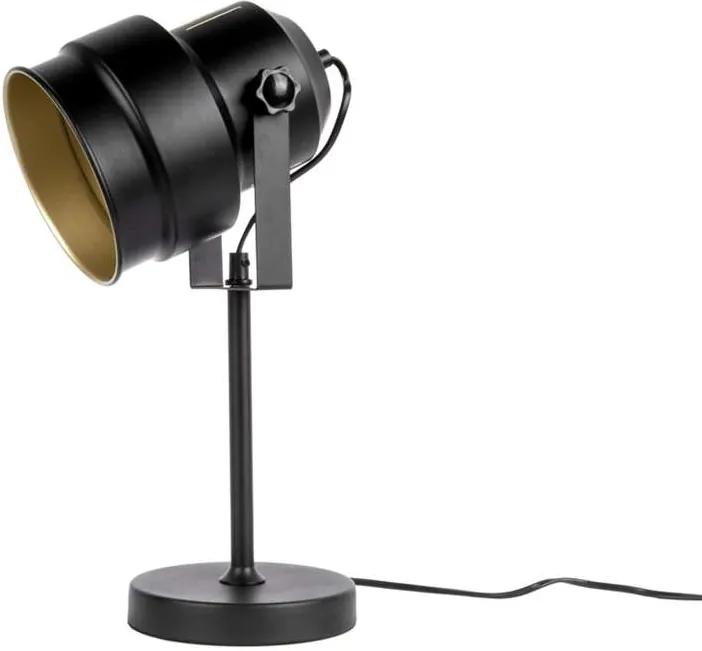 Leitmotiv tafellamp Studio - zwart/goudkleurig - Leen Bakker