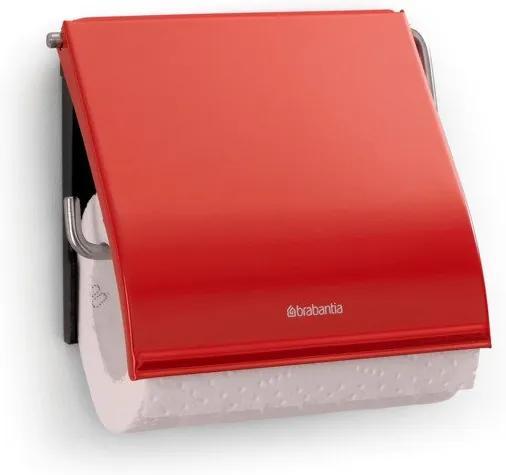 Brabantia classic toiletrolhouder met klep classic passion red 107863