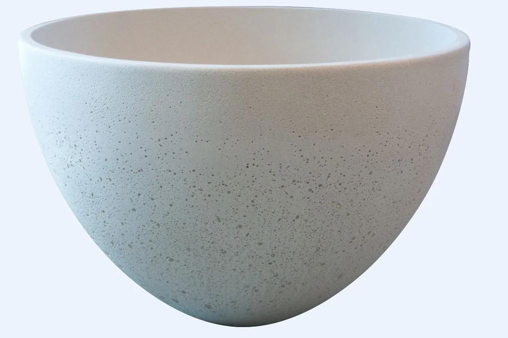 Best Design Aquastone Eco 42 opbouw waskom 42cm Lime white