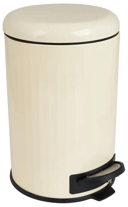 Pedaalemmer retro - wit - 12 liter