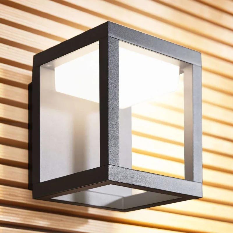 LED buitenwandlamp Gero zonder lamellen