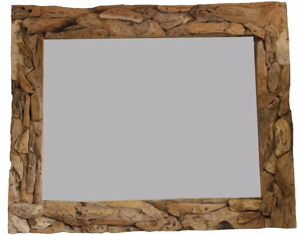 Spiegel Sprokkel 130x90 cm Natural Teak