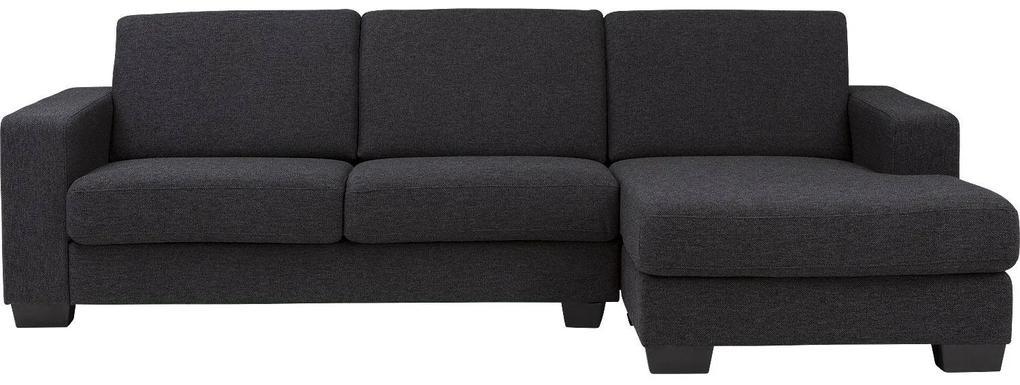 Goossens Bank N-joy Divana Met Chaise Longue grijs, stof, 2,5-zits, stijlvol landelijk met chaise longue rechts