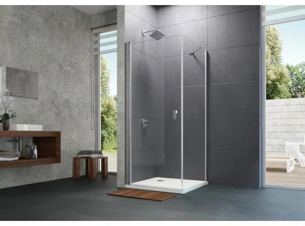 Huppe Design pure draaideur stn 80x200cm matzilver helder glas 8p0604087321