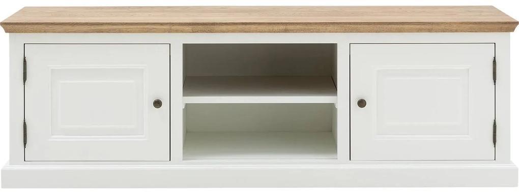 Goossens Tv Meubel Nancy, 2 deuren en 2 open vakken 45 cm diep met profielblad
