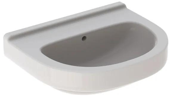 Geberit 300 Basic Arco wastafel zonder kraangat met overloop 60x49x19.5cm wit S8302505000G s8302505000g