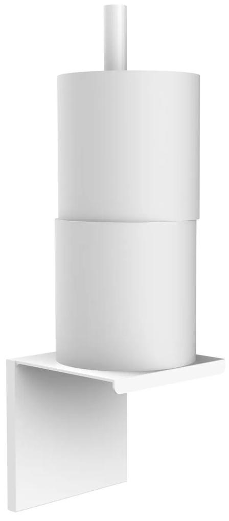 Closetrolhouder Allibert Loft-Game Hangend Model Mat Wit (ruimte voor twee rollen)