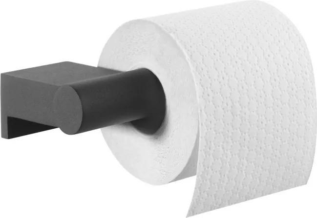 Bold toiletrolhouder zonder klep 16,8x8,5x4,2 cm, zwart