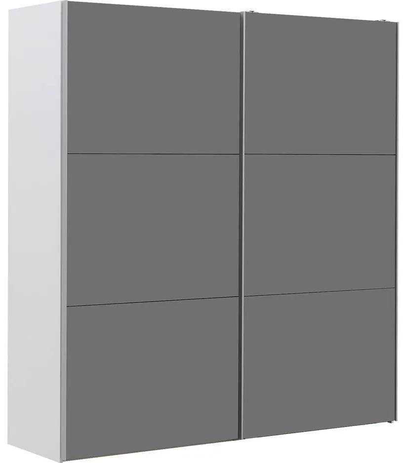 Goossens Kledingkast Easy Storage Sdk, 200 cm breed, 220 cm hoog, 2x 3 paneel glas schuifdeuren
