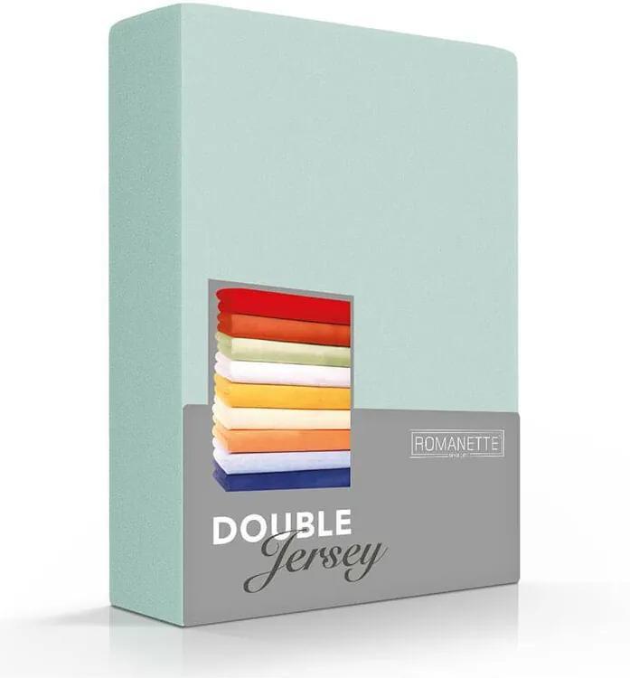 Romanette Luxe Dubbel Jersey Hoeslaken - Misty Groen 80/90/100 x 200/210/220 cm