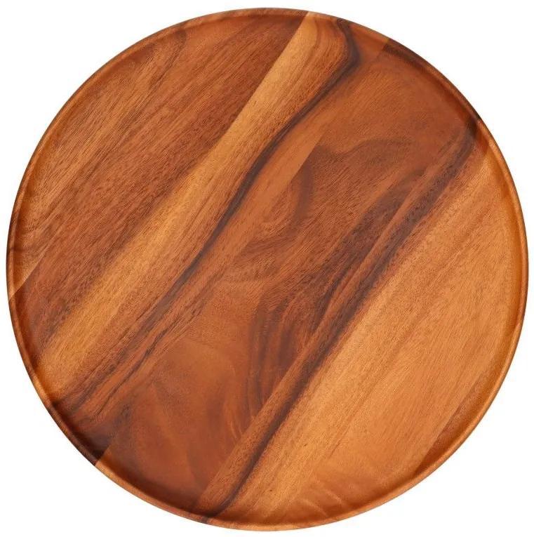 Dienblad, acaciahout, Ø 45 X 2 cm