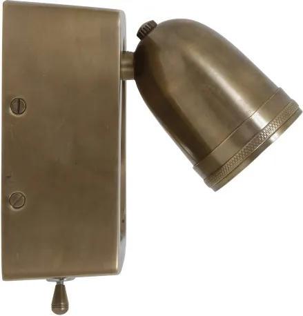 wandlamp Otis antiek messing