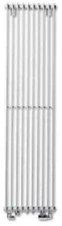 Vasco Tulipa TV2 designradiator verticaal dubbel 1800x360mm 1354W - aansluiting 1008 wit 1120803601800100890160000
