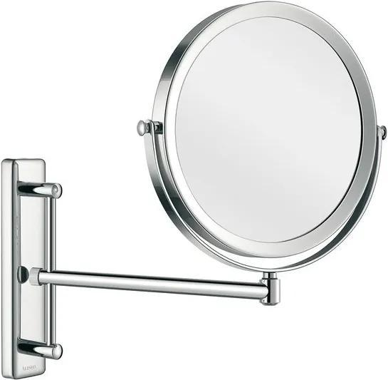Aliseo Concierge make-up spiegel 24cm messing/staal chroom 020597