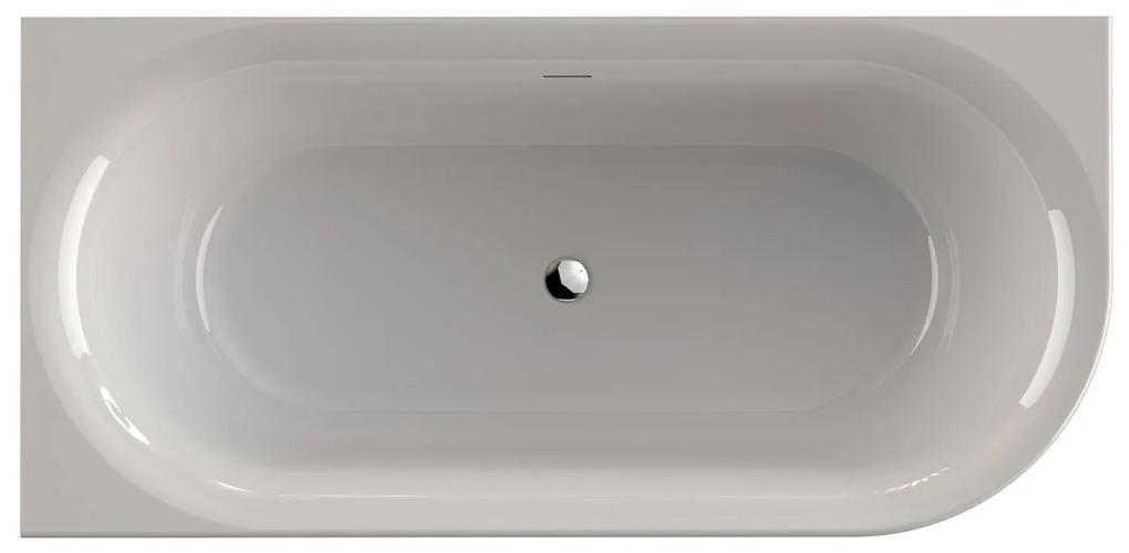 Xenz Fay links vrijstaand bad 180×80 glanzend Wit