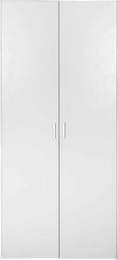 Kledingkast Space 2-deurs - wit - 175,4x77,6x49,5 cm - Leen Bakker