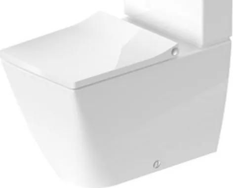 Duravit Viu duoblokpot diepspoel Rimless vario met hygieneglaze 35x65cm zonder reservoir incl. bevestiging wit 2191092000