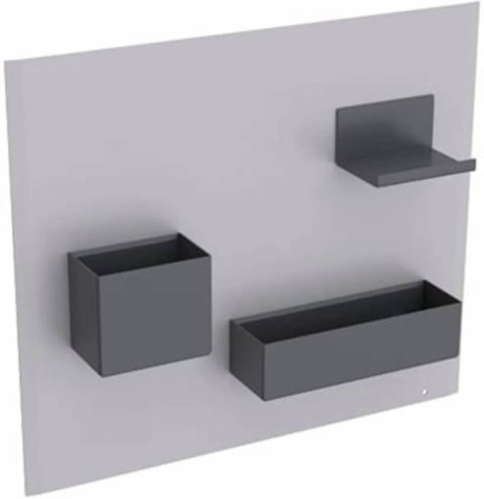 Acanto magneet wand inclusief accessoires zandgrijs