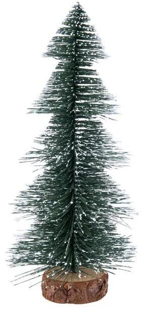Kerstboom L met sneeuw - donkergroen - 30 cm