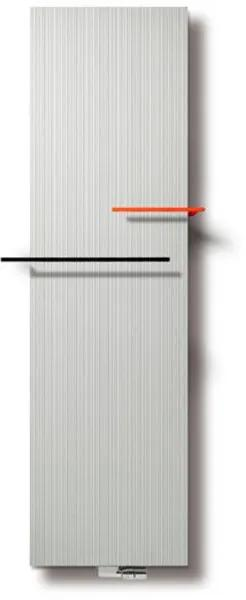 Vasco Bryce Plus BV designradiator 2200x600mm 2590W aansluiting 0066 wit structuur 11209060022000066060