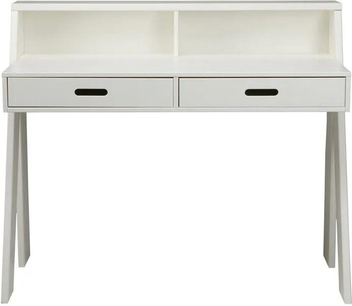Woood Max Massief Grenen Bureau Wit - 112 X 55cm.
