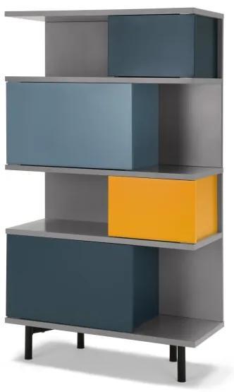 Fowler hoge boekenkast, meerkleurig
