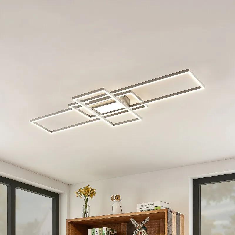 Mairin LED plafondlamp, nikkel mat - lampen-24