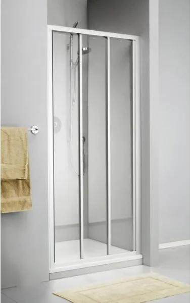 Sealskin Get Wet C110 schuifdeur 100x190cm wit profiel en helder glas 7AA100C020100