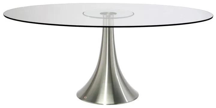 Kare Design Grande Possibilita Eettafel Met Ovaal Glazen Blad - 180 X 120cm.