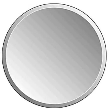 Plieger Charleston 4mm ronde spiegel met facetrand O 50cm zilver 4350109