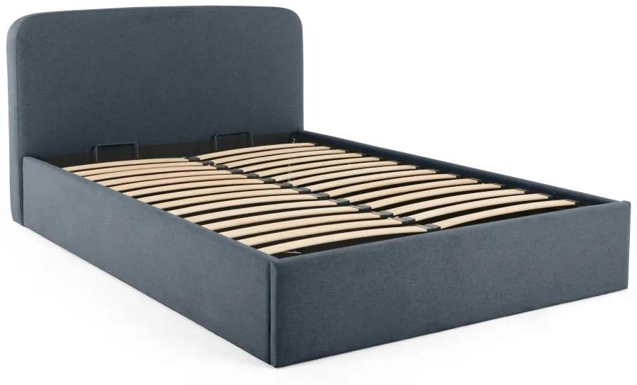 MADE Essentials Besley super kingsize bed met opbergruimte, oceaanblauw
